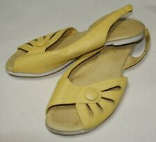 TOPSHOP yellow wide leg sandals size 38 / 5 uk