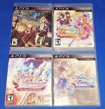 Atelier Totori Rorona Meruru Escha & Logy Alchemist + PS3 Game Bundle Lot RPG
