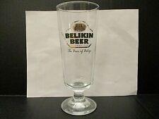 Vintage Belikin Beer Glass Mayan Temple Belize Brewing Co. 0.35L Rastal Stemmed