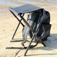 fishing stool road chair bag folding stool travel mountaineering bag Black