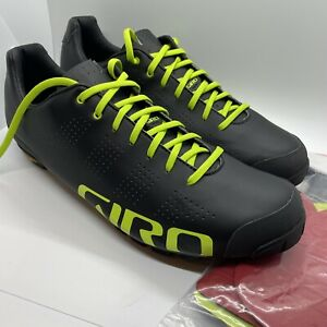 Giro Empire VR90 HV 47 US 13 New Without Box - Black With Lime - Easton / Vibram