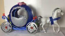 Rare Mattel Disney Princess Cinderella Citrouille Transforming cheval et chariot