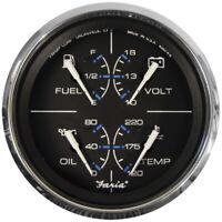 "Faria Beede Instruments 33751 Chesapeake Black Ss Bezel 4"" Multifunction [Fuel"