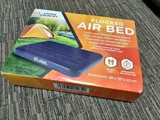 Cross Country Flocked Air Bed Double Size - 73191/K