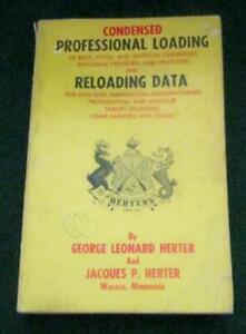 Vintage 1966 HERTER'S Condensed Professional Loading & Reloading Data Manual 3rd