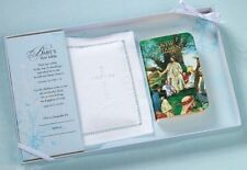 Lillian Rose Baby Keepsake Baby Bible (Color) w/ Cotton Cover Gift Set 24CO820