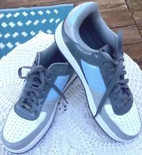 Starbury Sneakers Patent Leather Blue White Lace Up Men's Basketball Shoes 10.5M