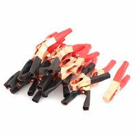 50A 600V Copper Plated Car Battery Test Alligator Clip Red Black 22PCS