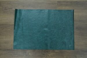 """NEW! Soft, Thin Teal Craft Leather Piece 12"""" by 18"""" 1.5 square feet"""