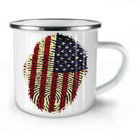 American Fingerprint NEW Enamel Tea Mug 10 oz   Wellcoda