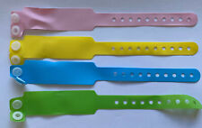 4 x REBORN NEWBORN TOY DOLLS AUTHENTIC HOSPITAL ID BANDS  PINK BLUE GREEN YELLOW