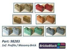 NEW & GENUINE Lego Part 98283 1x2 Masonry Brick (Choose 1,2,4,6,8 or 10)