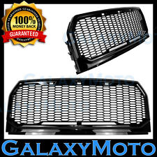 15-16 Ford F150 Gloss Black Full Replacement Raptor Style Mesh Grille+Shell 2017