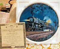"Knowles Train Collector Plate ""The Twentieth Century Limited"" 1992 IOB W COA"