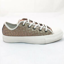 CONVERSE WOMEN'S CHUCK TAYLOR PREMIUM LEATHER OX SHOES SIZE:5.5 GOLD  NEW! 15704
