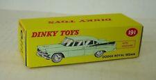 Repro Box Dinky Nr.191 Dodge Royal Sedan