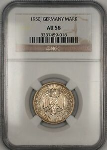 1950-J Germany 1M Mark Coin NGC AU-58 JA