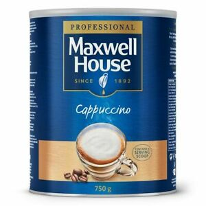 Maxwell House Cappuccino 750g Instant Cappuccino Approx 44 Servings 1 2 4 6 Pack