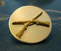 U.S.A. Army Infantry Crossed Rifles Lapel Collar Pin - Vintage American Military