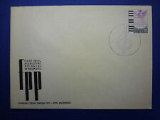 LOT 12558 TIMBRES STAMP ENVELOPPE MUSIQUE POLOGNE ANNEE 1977
