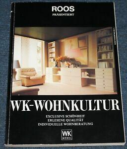 WK Wohnkultur Möbel Katalog Einrichtungshaus Roos Kiel 1980er Jahre