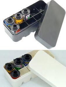AU - NEW Plastic case for 135 35mm film 2 colors Black / White lomo kodak fuji