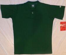 Rawlings Youth Blank Baseball Jersey Green Single Button NEW
