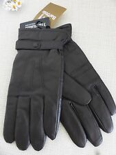 BNWT Barbour Thinsulate Brown Burnished Leather Gloves  size XL
