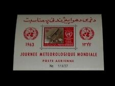 AFGHANISTAN #C50a, 1963, METEOROLOGICAL DAY, SOUVENIR SHEET, MNH, NICE! LQQK!