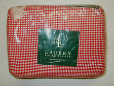 Set Ralph Lauren Red Gingham King Flat Fitted 2 Pillowcases Melissa Beach House