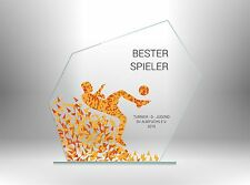 Glaspokale Pokale FUSSBALL BESTER SPIELER günstig kaufen TOP DESIGN