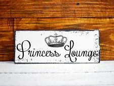 Shabby Chic Deko Schild Princess Vintage Nostalgie Wandschild Landhaus Türschild