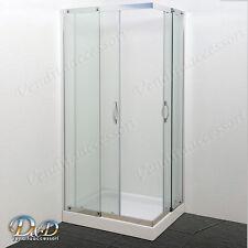 Box cabina doccia 80x100 rettangolare cristallo 8 mm angolare scorrevole