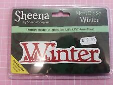 Sheena Douglass Christmas Sentiment Metal Cutting Die - Winter NEW