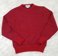 Vintage 80s 90s Glencraig of Scotland Wool Sweater Medium Red **Flaw