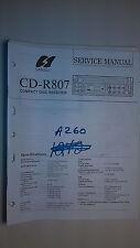 Sansui cd-r807 service manual original repair book stereo cd player car radio