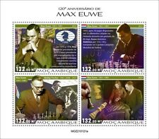 More details for mozambique 2021 mnh chess stamps max euwe dutch player games sports 4v m/s