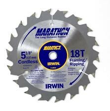 IRWIN 5-3/8 X 10MM - 18T  CARBIDE SAW BLADE FRAMING-RIPPING MARATHON