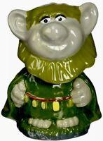 Disney Westland Giftware Ceramic Bobble Head Troll Christmas Ornament New In Box