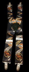 Harley Davidson Suspenders Authentic elastic black all over print adjustable