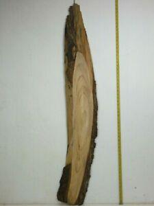 Waney Edged English Elm wood board. 200 x 1430 x 30mm. Plank, shelf, resin. 4867