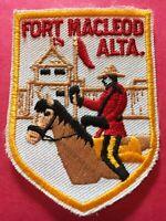 Patch, Fort Macleod Alberta Canada Vintage Sew On Badge PB4