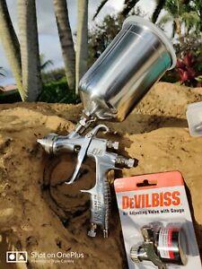 DeVilbiss FLG-693 1.3, 1.4, 1.8  Paint Spray Gravity HVLP  Spraygun