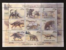 GUINEA DINOSAUR STAMPS SHEET 9V 1998 MNH PREHISTORIC ANIMALS REPTILE TRIASSIC
