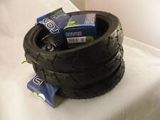 Conjunto de 3 Pram Neumáticos & Jane tubos de 270 X 47-203 Slick pisada Suave