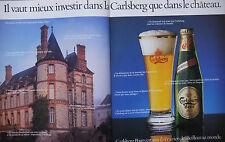 PUBLICITÉ DE PRESSE 1986 BIÈRES CARLSBERG - CHATEAU - ADVERTISING