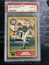 New listing 1987 Topps Traded Greg Maddux Chicago Cubs #70T Baseball Card PSA 10
