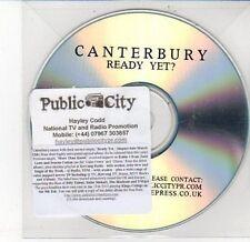 (DD548) Canterbury, Ready yet? - DJ CD