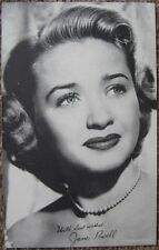 JANE POWELL Vintage 1950s EXHIBIT CARD Photo Postcard Facsimile Autograph
