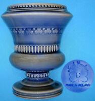 "Wade: Irish Porcelain 'D' Shamrock Decorated Urn Vase: 4½"" Tall x 3¾"" Diameter"